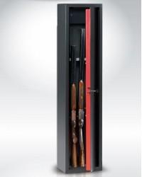 Portafucili a chiave 5 armi con tesoretto TECHNOMAX mod. TCH/4