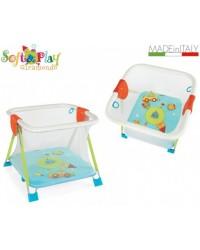 Box per bambino con maniglie e materassino Brevi Giramondo forma quadrata