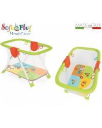 Box per bambino con maniglie e materassino Brevi Mondocirco forma rettangolare