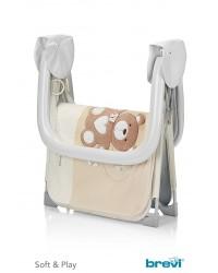 Box per bambino con maniglie materassino e pupazzo Brevi My Little Bear forma rettangolare