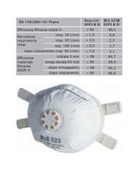 Mascherina con valvola per polveri e vapori BLS mod. 525B FFP3