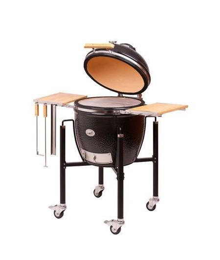 Barbecue MONOLITH KAMADO mod. CLASSIC PRO-SERIE 2.0 a carbone con mensole laterali