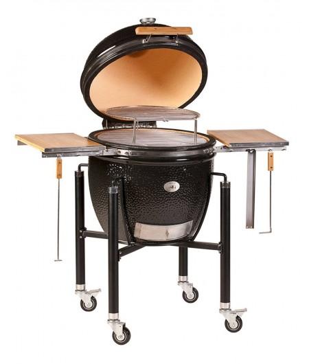 Barbecue MONOLITH KAMADO mod. LeCHEF PRO-SERIE 2.0 a carbone con mensole laterali